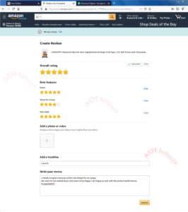 Amazon verified Reviews